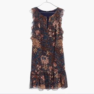 Madewell Lilly dress sea floral xs